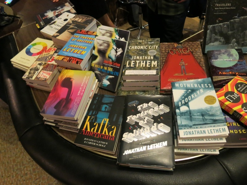 Lethem book table